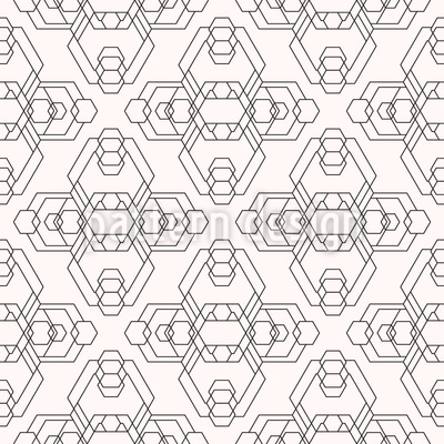 Alien Hexagons Repeating Pattern