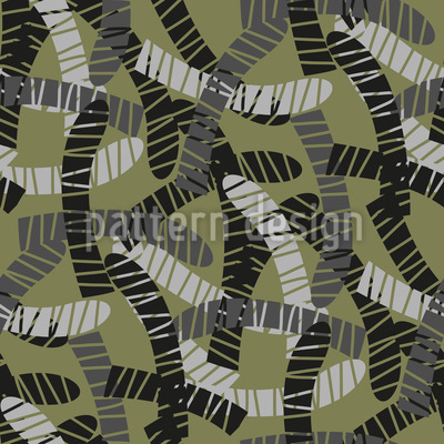 Swarming Jungle Worms Vector Ornament