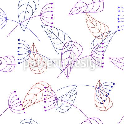 Stylized Plants Pattern Design