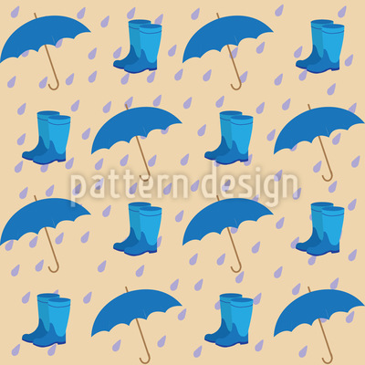 Rainy Spring Day Repeat Pattern