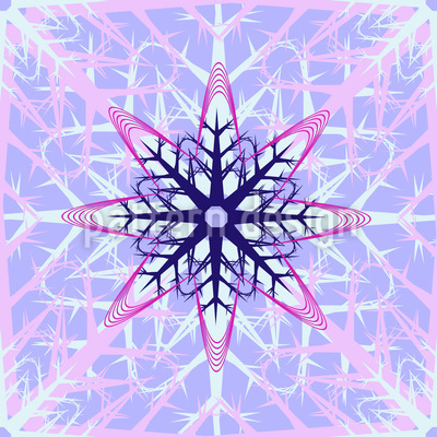 Abstract Ice Crystals Repeat