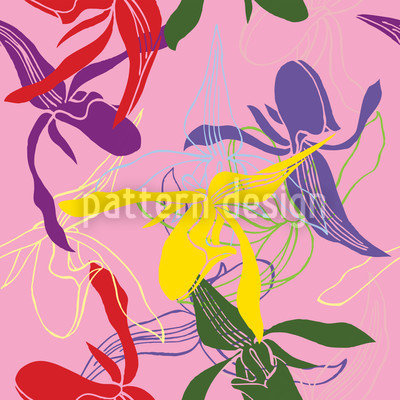 Orchid Color Design Pattern