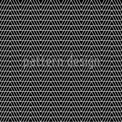 Monochrome Zigzag Vector Pattern