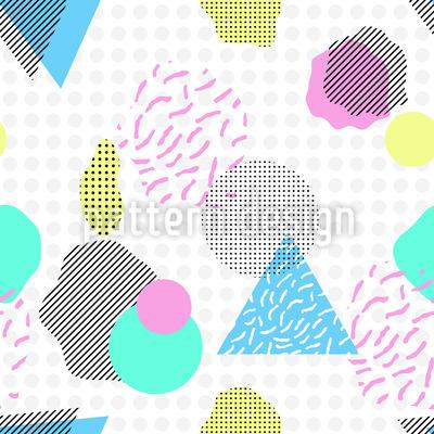 Abstrakte Formen Rapportiertes Design