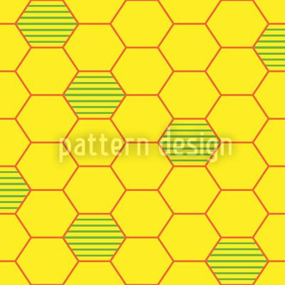 Bienenwaben Zellen Nahtloses Muster