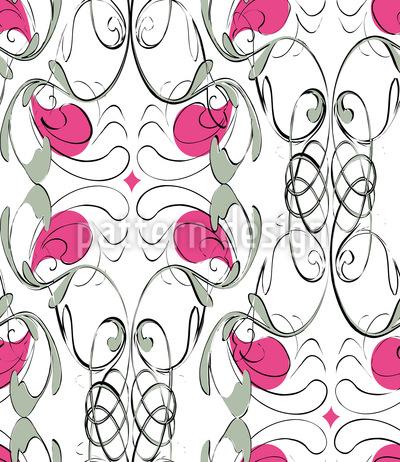 Dekorativer Jugendstil-Flair Vektor Muster
