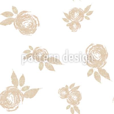 Teezeit Rosen Rapportiertes Design