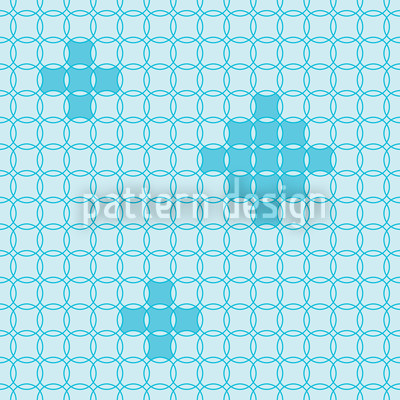 Ringmosaic Seamless Vector Pattern Design