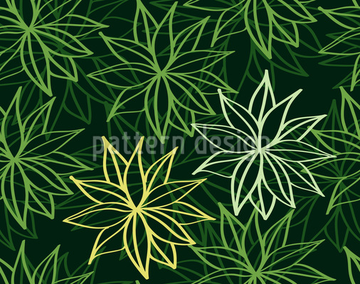 Abstract Spring Leaves Vector Ornament