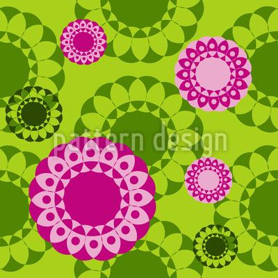 Springtime Mandala Seamless Pattern