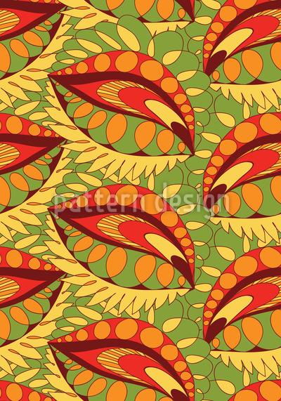 Niedliche gekritzelte Blätter Rapportmuster