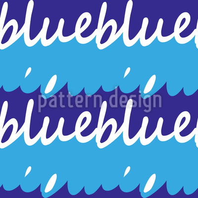 Lettering Waves Vector Pattern