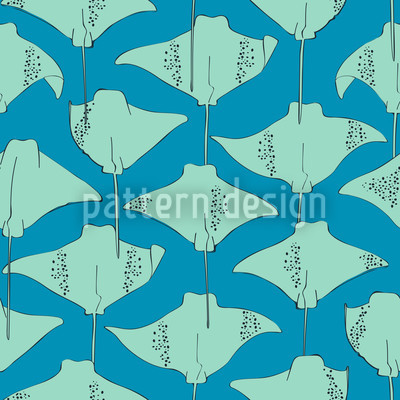 Rochen Im Meer Rapportiertes Design