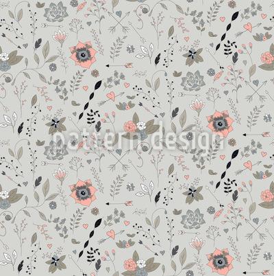 Blumengarten Muster Design
