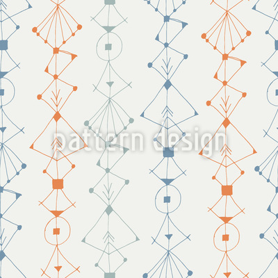 Sketchy Bordure Seamless Vector Pattern