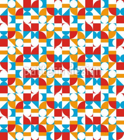 Sechziger Geometrie Nahtloses Vektor Muster