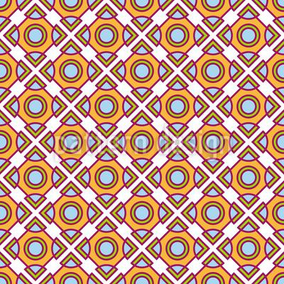 Duplizieren von Kreisen und Quadraten Rapportiertes Design