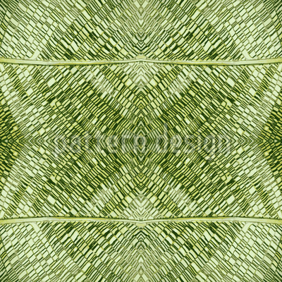 Leaf Mosaic Structure Seamless Vector Pattern Design