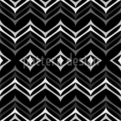 Zwischen Zickzack Muster Design