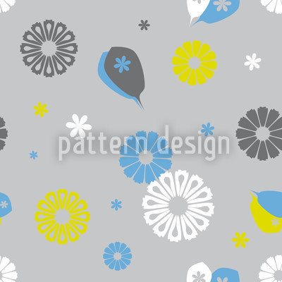 Flowerpower Stilisimo Seamless Vector Pattern Design