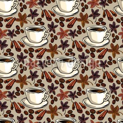Feeling Of Coffee Repeat Pattern