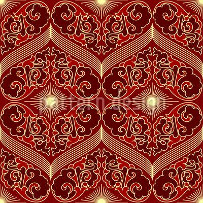 Strahlende Augen Muster Design