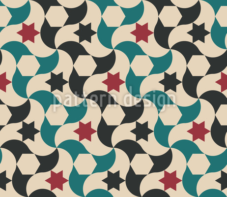Under The Star Pattern Design