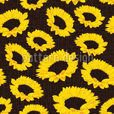 Sonnenblumen auf Stoff Musterdesign