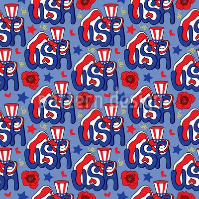 Hello USA Seamless Pattern