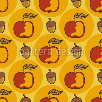 Eichel Und Apfel Vektor Design
