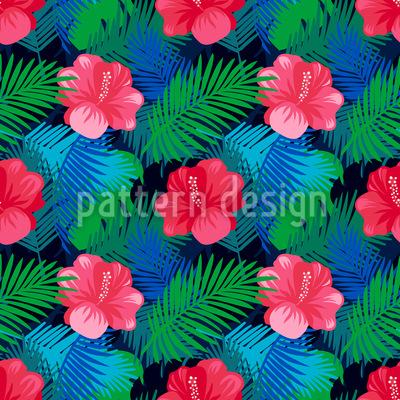 Exotischer Hibiskus Musterdesign