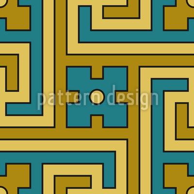 Decorative Labyrinth Pattern Design