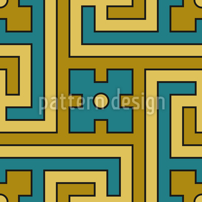 Dekoratives Labyrinth Muster Design