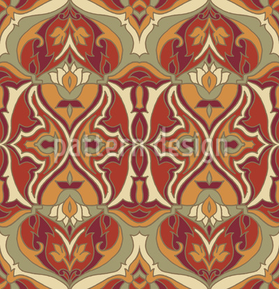 Erdig Abstrakt Vektor Ornament
