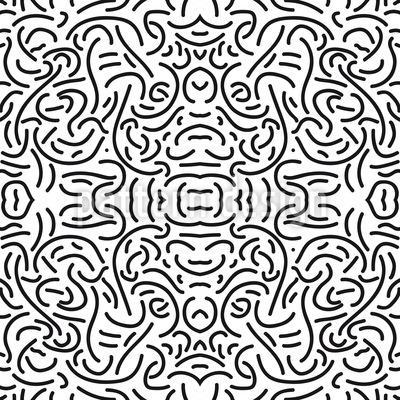 Versteckter Schatz Nahtloses Muster