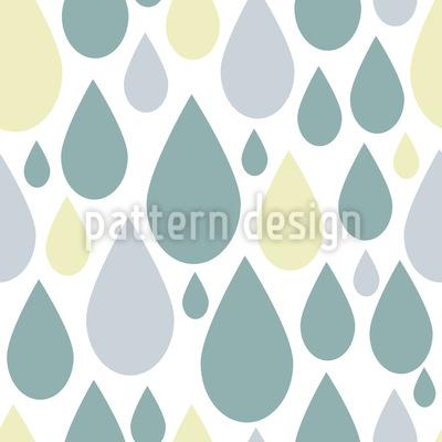 Retro Raindrops Vector Pattern
