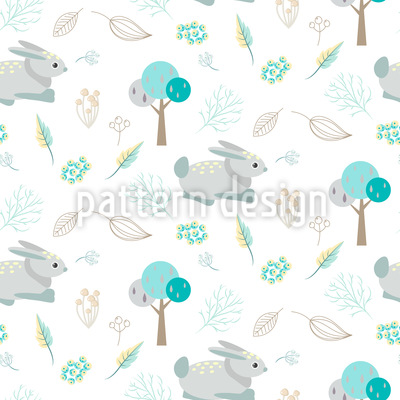 A Day In The Woods Seamless Vector Pattern