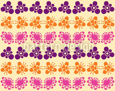 Japanese Bloom Vector Ornament