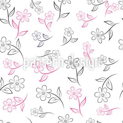 Niedliche Wildblumen Musterdesign