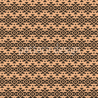 Maori Style Seamless Vector Pattern Design
