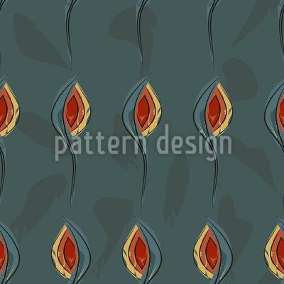 Herbstliches Blühen Muster Design