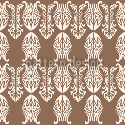 King Of Polynesia Seamless Vector Pattern Design