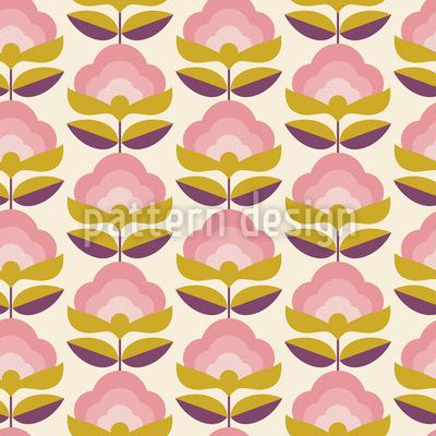 Retro Bonbon Blumen Nahtloses Vektormuster