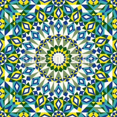 Selva Mosaico Design de padrão vetorial sem costura