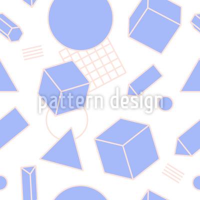 Memphis Limpo Design de padrão vetorial sem costura
