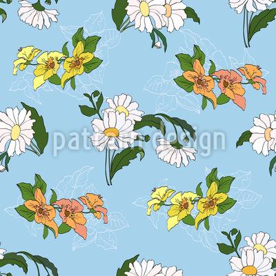Wiesenblumen Nahtloses Muster