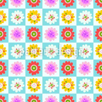 Blumenquadrate Vektor Design