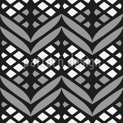 Vergitterte Bordüren Rapportiertes Design