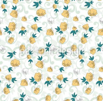 Es Grünt Es Blüht Muster Design