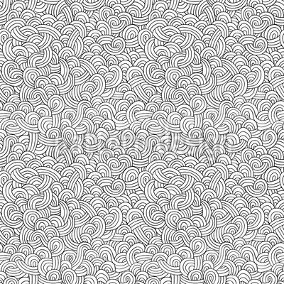 Doodle Wellen Designmuster